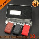 Lecteur flash USB en cuir se pliant en métal de Hasp neuf (YT-5116-01L)