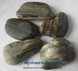 Pedra natural preta para a decoração do jardim de Baech