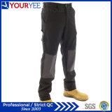Calças pretas feito-à-medida do trabalho para homens com almofada de joelho (YWP112)