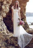 Vestidos nupciais Ld1515 do império boémio de Anna dos vestidos de casamento da praia do laço