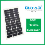El panel solar flexible solar semi flexible del panel 50W Sunpower