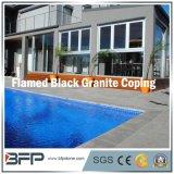 Mattonelle esterne del granito di pietra naturale nero per la piscina che fa fronte