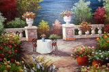 ハンドメイド塗られた油絵の内陸の風景画