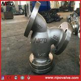 O aço inoxidável de aço de molde flangeou tipo filtro de Y