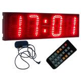 Цифровые часы 6 чисел Semi-Напольные СИД дюйма 4, поддерживают регулярно функцию часов и функцию Countdown/up, красный цвет