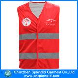 Da visibilidade elevada por atacado do Workwear de China vestes vermelhas da segurança de tráfego