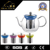 Crisol de cristal redondo del té de la alta calidad con Infuser