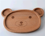 Cartoon naturale Wooden Creative Children Apartment Tray con FDA Certification