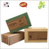 Caja de papel plegable embalaje Kraft jabon