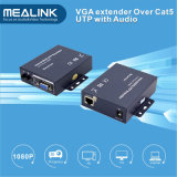 VGA Extender 200m sobre cable Cat5e UTP con audio de 3,5 mm