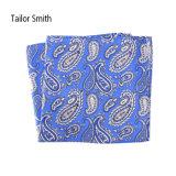 流行の黒い絹によって印刷されるペーズリーのハンカチーフのポケット正方形のハンカチ