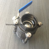 Ts Carbon Steel /Wcb Socket Weld 3PC Ball Valve