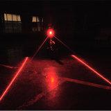 Inalámbrico inteligente de bicicletas luz del freno trasero de control remoto recargable de rayo láser señal de vuelta de seguridad de la bici de la lámpara Luz trasera