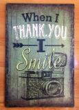 Plaque en bois peinte à la main Artisanat en bois avec prononciation
