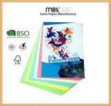 Цветастая бумага экземпляра для бумаги цвета учебника фабрики сырцовой сразу