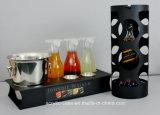 Drehender Schuss-Glas-Acrylausstellungsstand