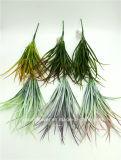 인공 플라스틱 또는 푸른 잎 풀이 나게 하십시오로 7개의 줄기 (XF90200)