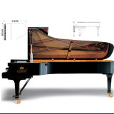 Piano à queue 275cm d'instrument musical