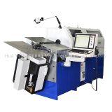 Máquina que enrolla y alambre del resorte automático del CNC que forman la máquina con el eje siete