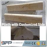 Placa da pedra do mármore do creme da venda/contorno quentes/Plinth/placa de contorno para a decoração interior