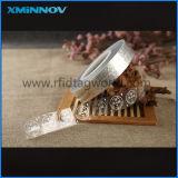 Não Transferência pegajoso Slight RFID UHF etiqueta adesiva transparente