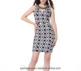 2016 Form gebördelte Prüfung-Muster-reizvolles Kleid-Sleeveless Dame-Abnutzung