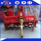 Cultivador giratório agricultural flexível e conveniente do trator de exploração agrícola com lâminas largas