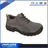 Ufa039スエードの革安全靴の青い高品質の安全靴