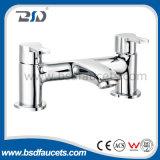 """1/4台の回転単一のレバーの真鍮のデッキによって取付けられる浴室のシャワーのミキサー3/4 """""""
