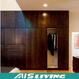 Armário feito sob encomenda moderno do Wardrobe da madeira contínua do quarto (AIS-W146)