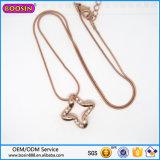 Nam de Directe Verkoop van de fabriek de Gouden Halsband van de Parels van de Tegenhanger van de Vorm van het Hart toe