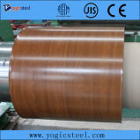 Pre-Painted деревянная гальванизированная стальная катушка (0.18-2.00/914-1250) PPGI