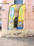 Флаг пера знамени летания выставки алюминиевый изготовленный на заказ