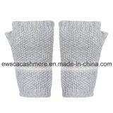 Женские чистого кашемира пальцев Менее перчатки с лампасами