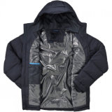 2015 Черных Мужская Глянцеватых Вниз Оперяются Куртки