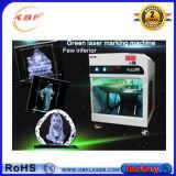 5With7With15W Machine van de Gravure van de Laser van de hoge Precisie de Groene Binnen voor Kristal