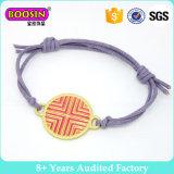 L'abitudine ha incerato il braccialetto nautico dell'ancoraggio della corda, braccialetto annodato della corda del Wristband del braccialetto, monili nautici Handmade della corda del braccialetto della corda di navigazione