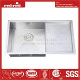 33X20 de Bovenkant van het roestvrij staal zet de Enige Gootsteen van de Keuken van de Kom Met de hand gemaakte met de Raad van het Afvoerkanaal op