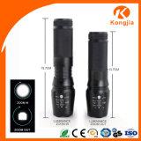 5 modos de luz estroboscópica Pequeño 10 vatios LED Linterna de aluminio de gran alcance