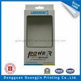 Rectángulo de tarjeta del papel de arte con la ventana para el empaquetado de la batería de la potencia