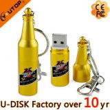 La botella de cerveza formó el mecanismo impulsor del flash del USB del OEM del metal (YT-1216)