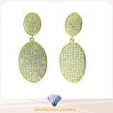 2015 золот заявления большой серьги серебра звезды промотирования большой круглой ультрамодных & ювелирные изделия женщин серег серебра (E6420)