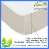 China Venta al por mayor caliente 100% 120GSM Bamboo Jersey Mattress Protector