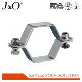Edelstahl-gesundheitlicher Hexagon-Rohr-Halter ohne Unterseite