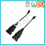 9004/9005/9007 di cablaggio impermeabile del collegare del connettore dell'indicatore luminoso del modanatura con il tubo del PVC