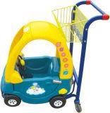 Het Winkelen van jonge geitjes Karretje met de Auto's van het Stuk speelgoed voor Supermarkt