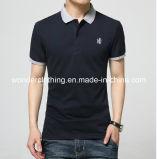 T-shirt de polo d'hommes de coton de mode adapté par coutume en gros