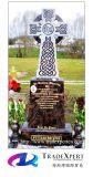 Il granito di disegno del cliente incide la lapide trasversale per i memoriali