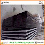 Controsoffitti neri assoluti naturali del granito di qualità con il bordo laminato