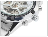 Vencedor Marca Mens Stainless Steel Automatic Mechanical Men Wrist Watch